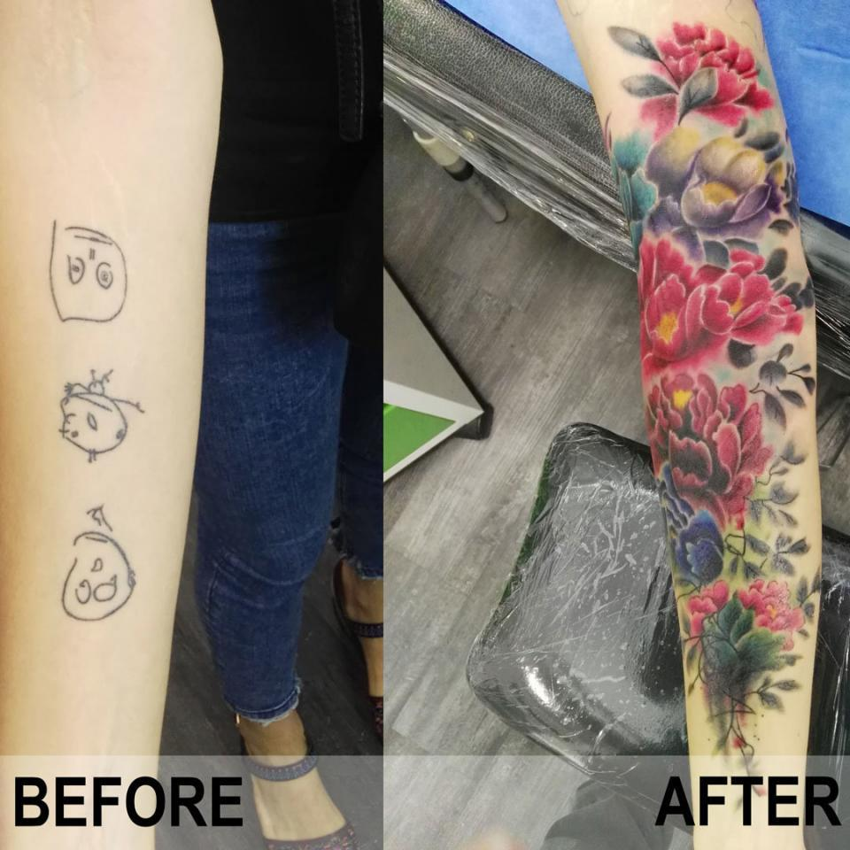 Cover up de tatuaje en Ink Sweet Tattoo